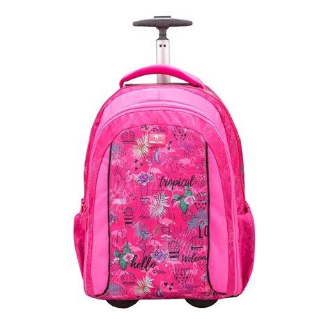 Trolley Rugzak Tropical Flamingo Meisje 7+