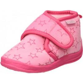 Pantoffel Sterren met klittenband - roze