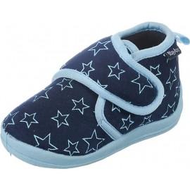 Pantoffel Sterren met klittenband - blauw
