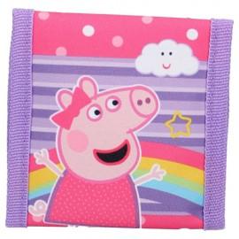 Portemonnee Peppa Pig met veel vakjes