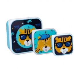 3 x Snackbox Tiger