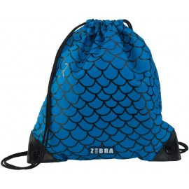 Zwemtas Blauw Schubben met Ritsje