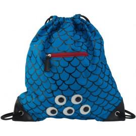 Zwemtas Blauw Schubben met Ritsje ZebraTrends